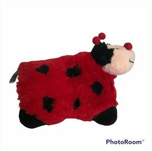 Pillow Pets Lady Bug Authentic Pre-Owned Retired Plush Toy, Stuffed Kids Pillow